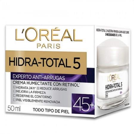 Hidra Total 5 Crema Antiedad, Antiarrugas 45+ 50ml
