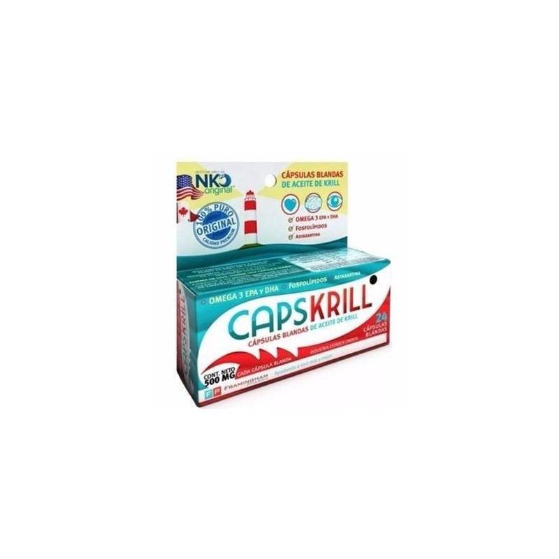Cápsulas Blandas De Aceite De Krill 24 Comp