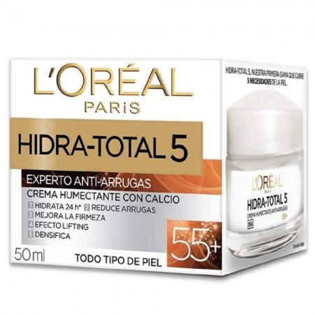 Hidra Total 5 Crema Antiedad, Antiarrugas 55+ 50ml