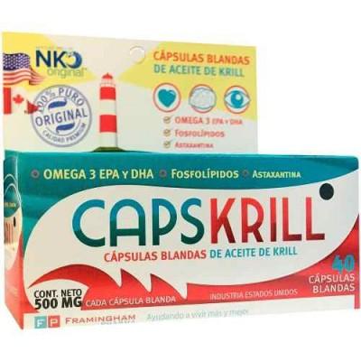 Cápsulas Blandas De Aceite De Krill 40 Comp