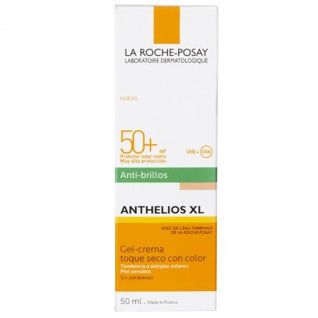 Gel Crema Anthelios XL Antibrillo Toque Seco Color Fps 50+ 50ml