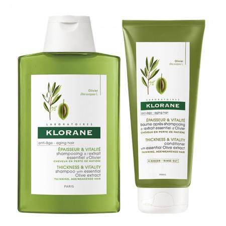 Set Olivo mas Densidad Shampoo Balsamo 200ml c/u