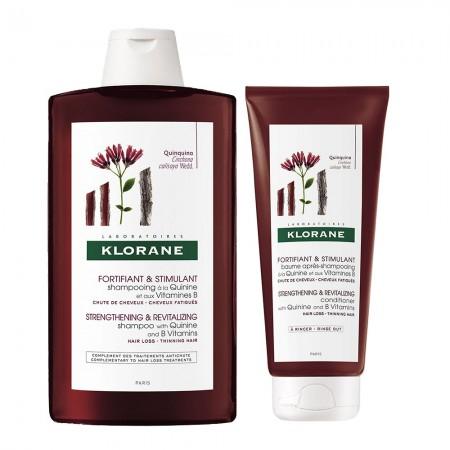 Combo Quinina Anticaida Shampoo 400ml Balsamo 200ml