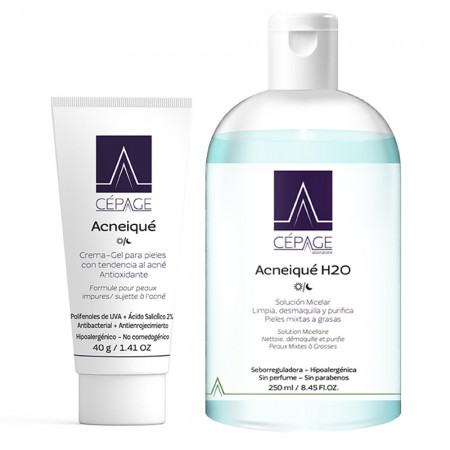 Combo Acneique Crema Gel X 40gr + Acneique H20 250ml