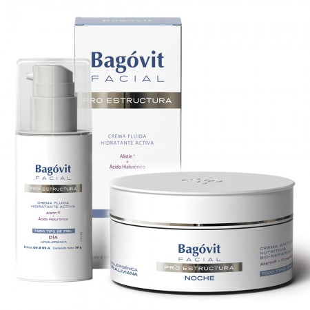 Combo Bagovit Pro Estrutura Fluido Dia Crema Noche Antiedad