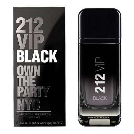 Perfume Carolina Herrera 212 Vip Black Men Importado 100ml