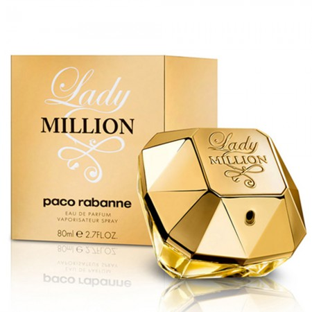 Perfume Paco Rabanne Lady Million 80ml Cofre C/ Crema 100 ml