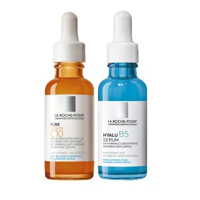 Set Pure vitamin C10 + Hyalu B5 serum rutina antiedad e iluminación