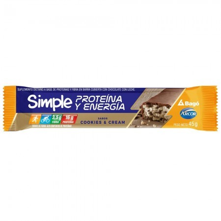 Barritas Proteina y Energia Cookies & Cream 16 unidades