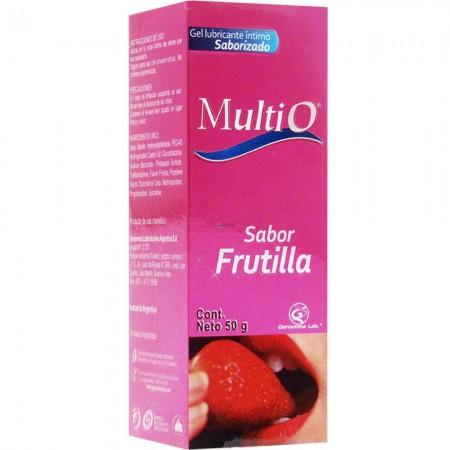 Gel Lubricante Sabor Frutilla Estimulante 50Gr