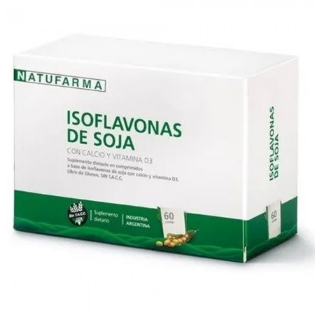 Isoflavonas De Soja Menopausia y Huesos 60 Comp