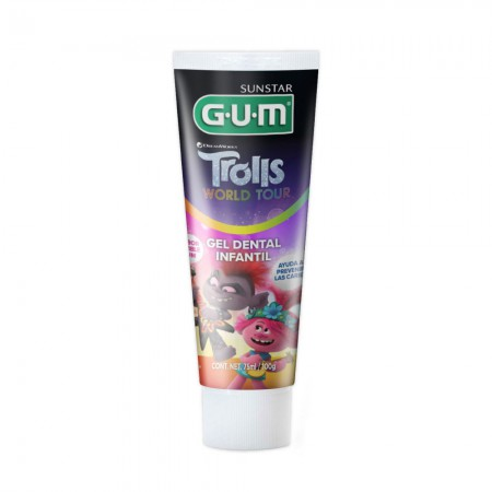 Gel Dental para Niños Trolls Sabor Bubble Gum100gr