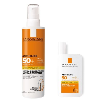 Set Anthelios Shaka Fluid 50ml + Spray Invisible 200ml