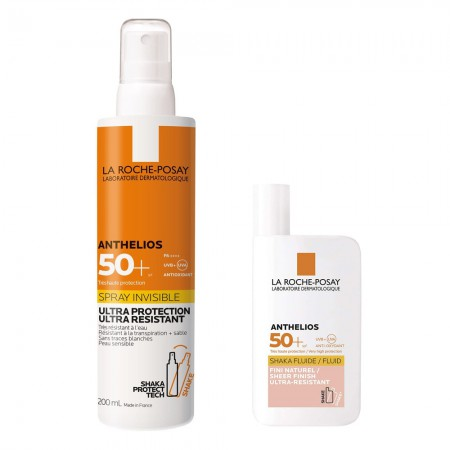 Set Amthelios Shaka Fluid Color 50ml + Spray Invisible 200ml