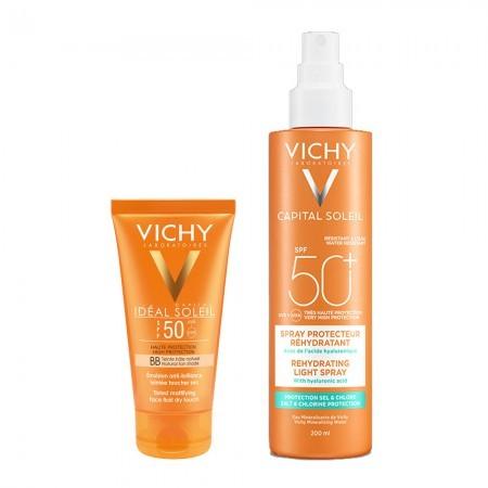 Set Ideal Soleil Toque Seco BB 50ml + Spray Hidratante Ligero 200ml