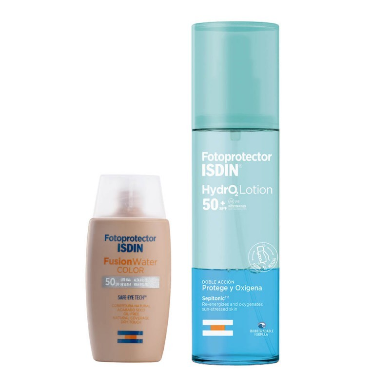 Set Isdin Fusion Water Color 50ml + Hydro Lotion 200ml