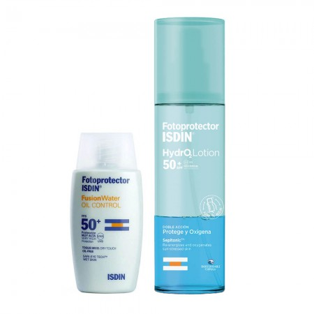 Set Isdin Fusion Water 50ml + Hydro Lotion 200ml