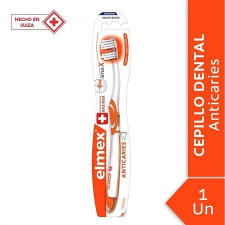 Cepillo Dental Suave Inter X Anticaries Cabeza Compacta