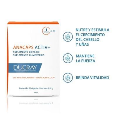 Anacaps Activ+ Tratamiento Caida del Cabello 30caps