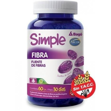 Simple Fibra 60 Pastillas Tránsito Intestinal